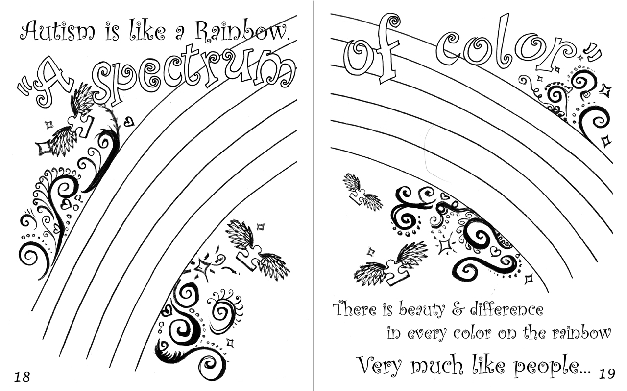 Autism Awareness Butterfly Coloring Page Coloring Pages
