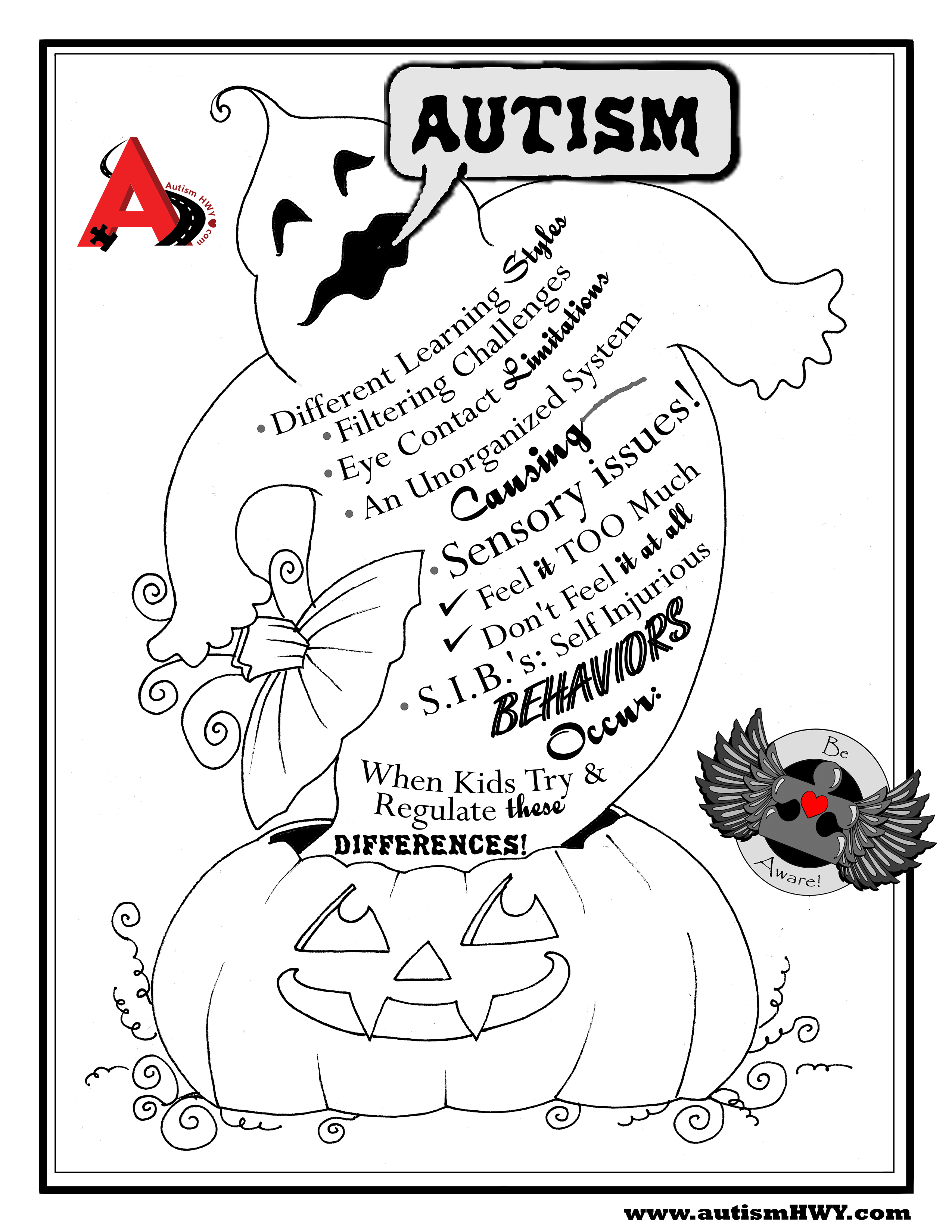 Free coloring pages awareness ribbon - Everyday Every Holiday Autismhwy Com Will Find Ways To Put The Information On The Table Promoting Friendship Through Common Understanding At Every