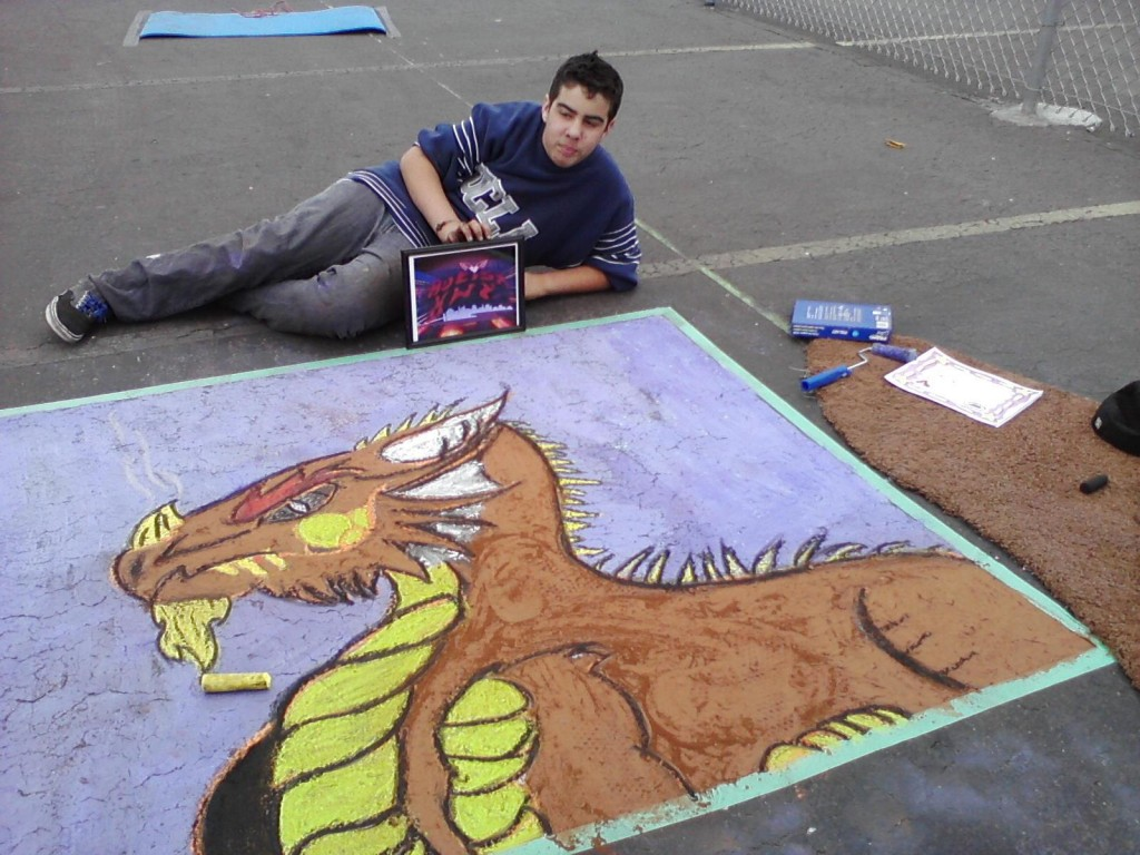 Angelo, 15 slays the crowd with this awesome DRAGON!
