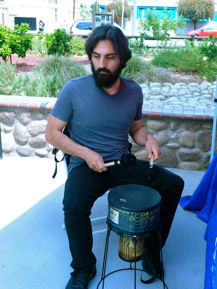 Roman Castro on hand to facilitate the Remo Drum Circle!