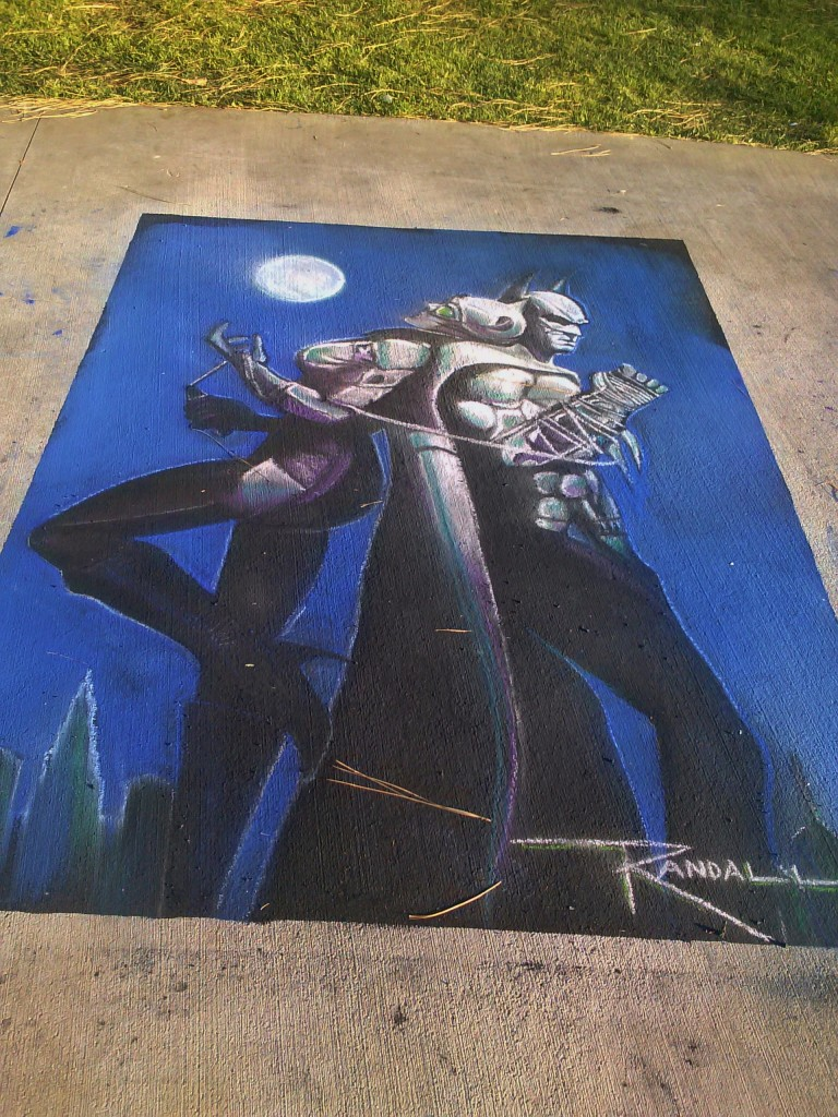 WOW, I SEE A SKY-SCRAPER! Pro chalker~Randall Williams knows what we are doing!