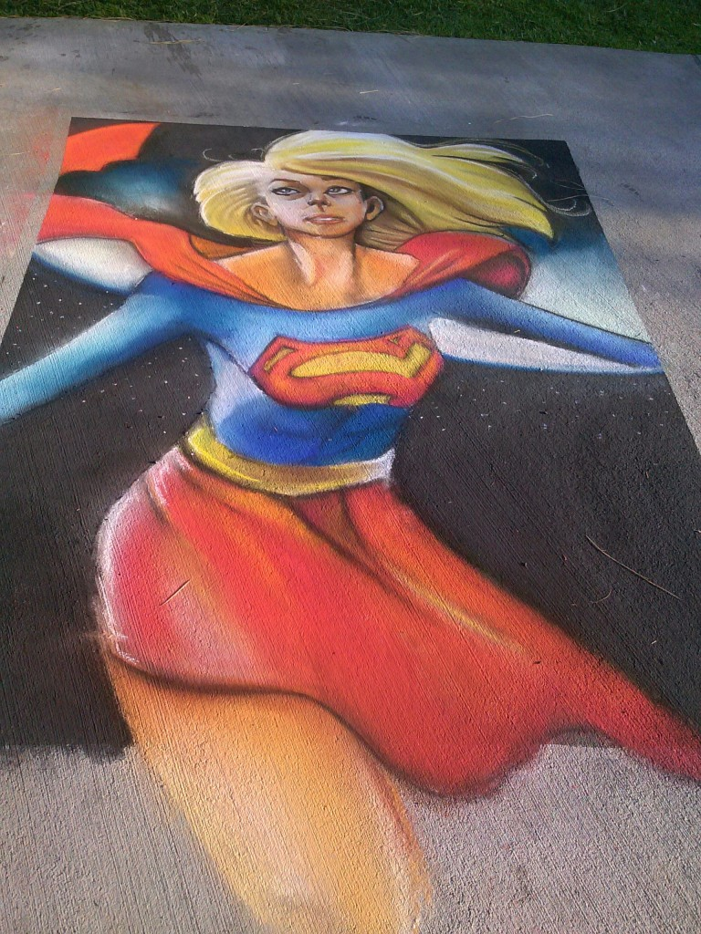SUPER HEROES TOUCHING GROUND all day! This winner by Stacy Nalapraya.