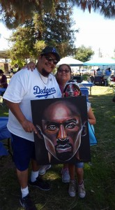 Randall Williams FANS always turn up at the Chalk festival!