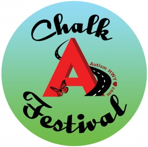 NEW Chalk Festival Logo dateless w red butterfly