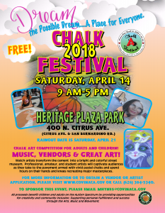2018 Chalk Art - Covina Today - Spring
