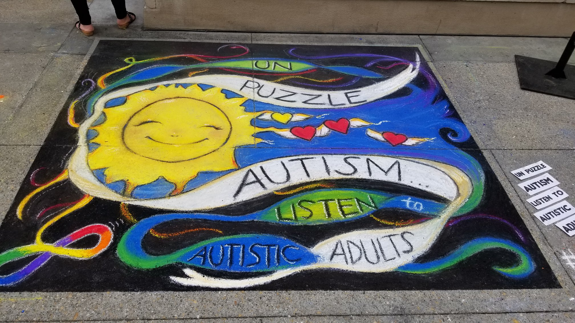 2018 Pasadena Chalk Festival art by Kelly Green & Carissa Paccerelli